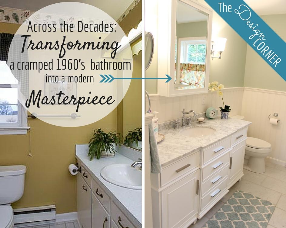 The Design Corner: Across the Decades: Transforming a 1960s Bathroom into a Modern Masterpiece | Harrisonblog