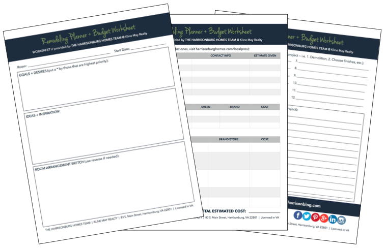 How To Plan and Budget for a Remodeling Project [Printable Worksheet]