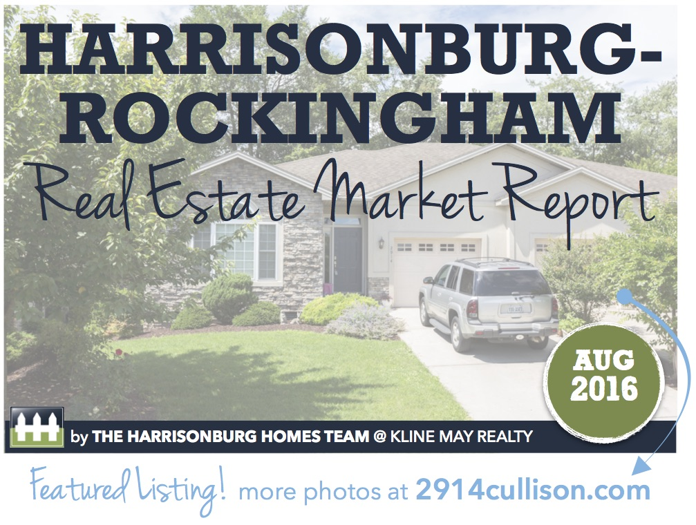 Harrisonburg Real Estate Market Report [INFOGRAPHIC]: August 2016   Harrisonblog