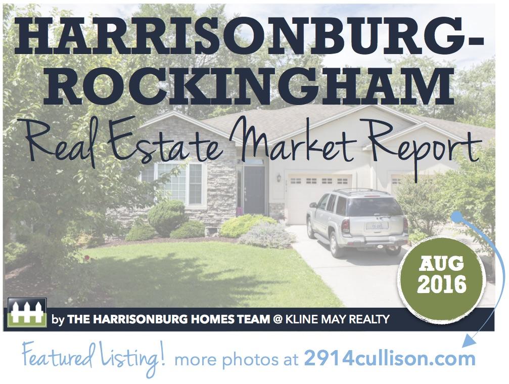 Harrisonburg Real Estate Market Report [INFOGRAPHIC]: August 2016 | Harrisonblog