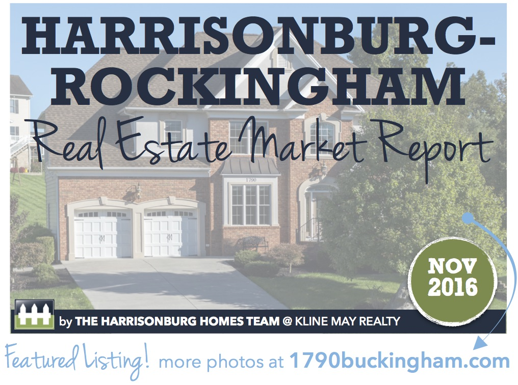 Harrisonburg Real Estate Market Report [INFOGRAPHIC]: November 2016 | The Harrisonburg Homes Team @ Kline May Realty
