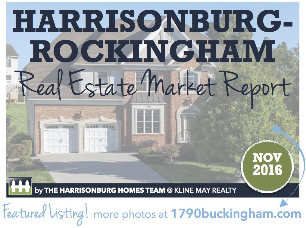 Harrisonburg Real Estate Market Report [INFOGRAPHIC]: November 2016 | The Harrisonburg Homes Team @ Kline May Realty