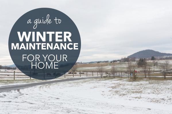 Winter Home Maintenance Guide   Harrisonblog