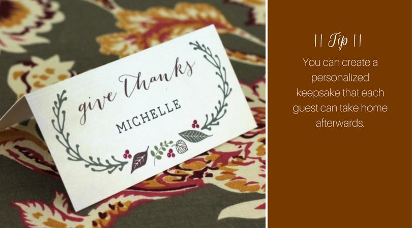 Thanksgiving Name Cards   Harrisonblog.com