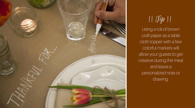 Thanksgiving - table writing | Harrisonblog.com