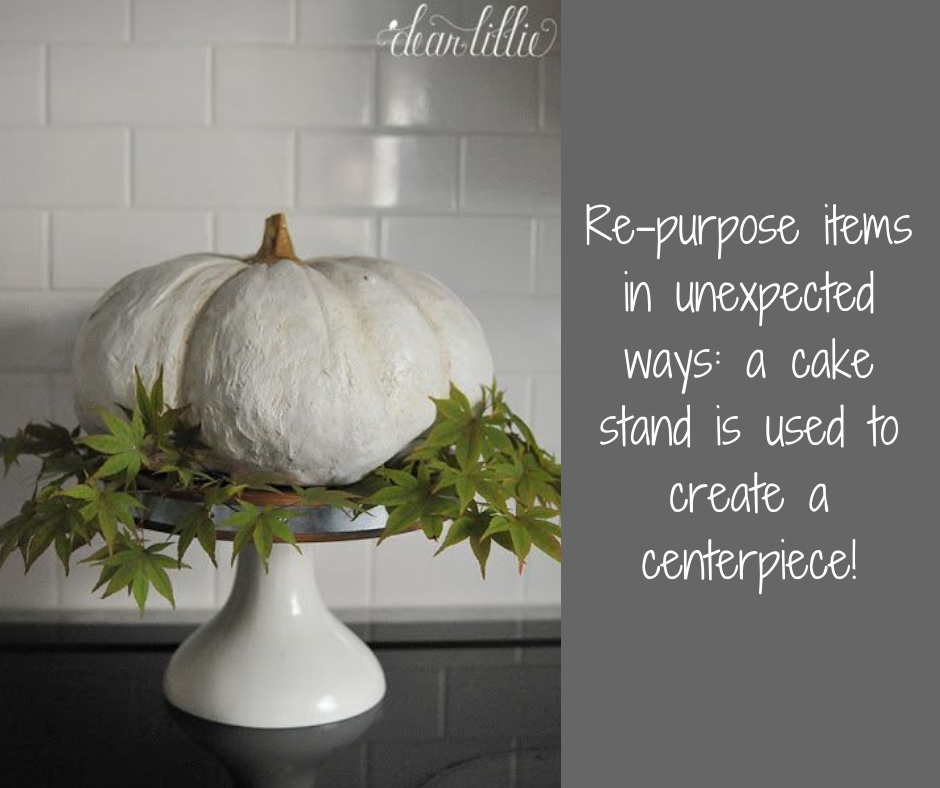 pumpkin cake stand | Harrisonblog.com
