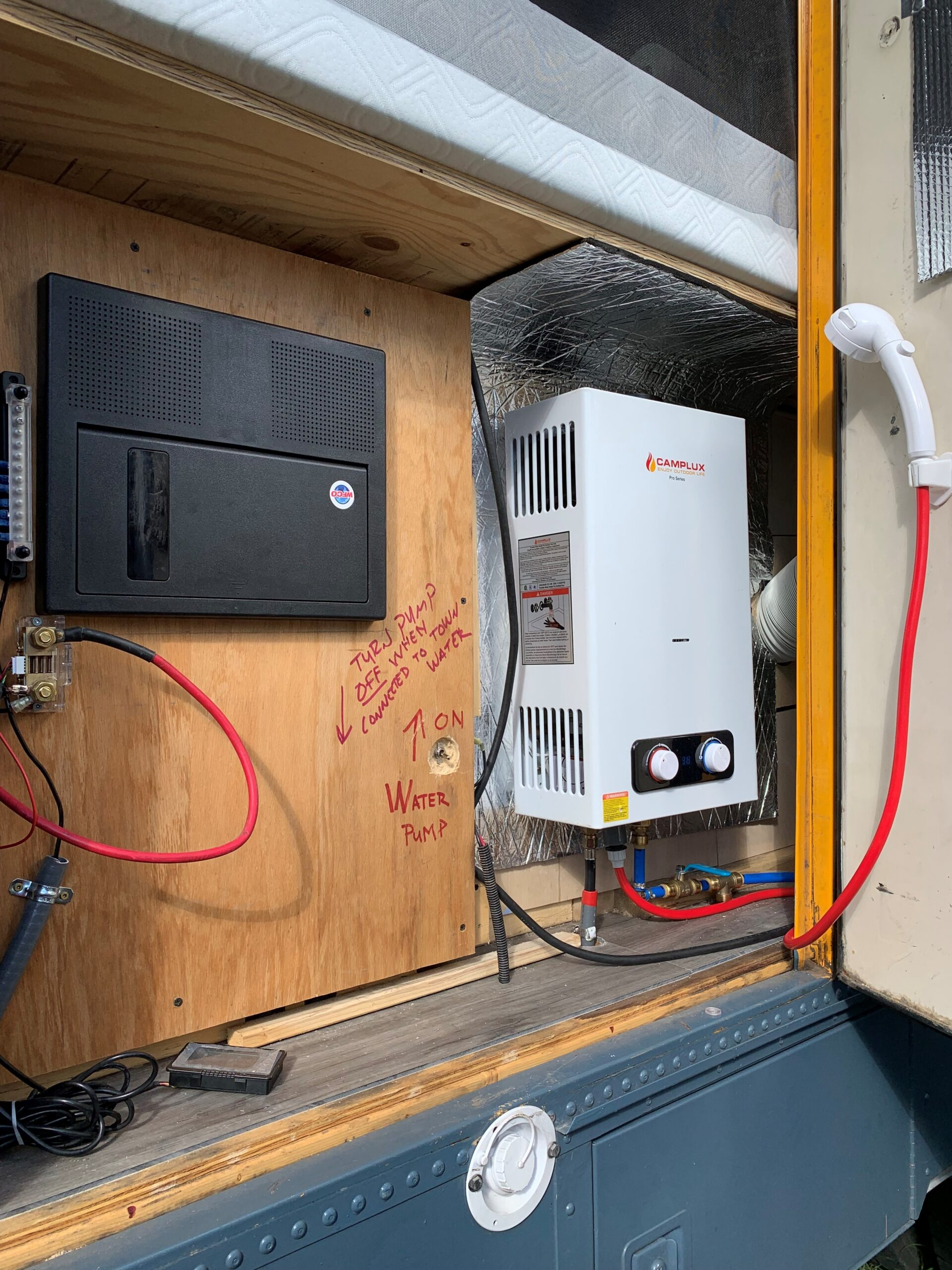 Service panel and water heater