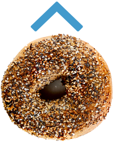 Bagel scroll back to top button