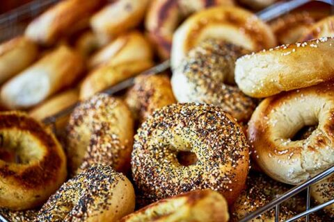sesame and poppy seed bagels. Great Bagel & Bakery in Lexington, KY