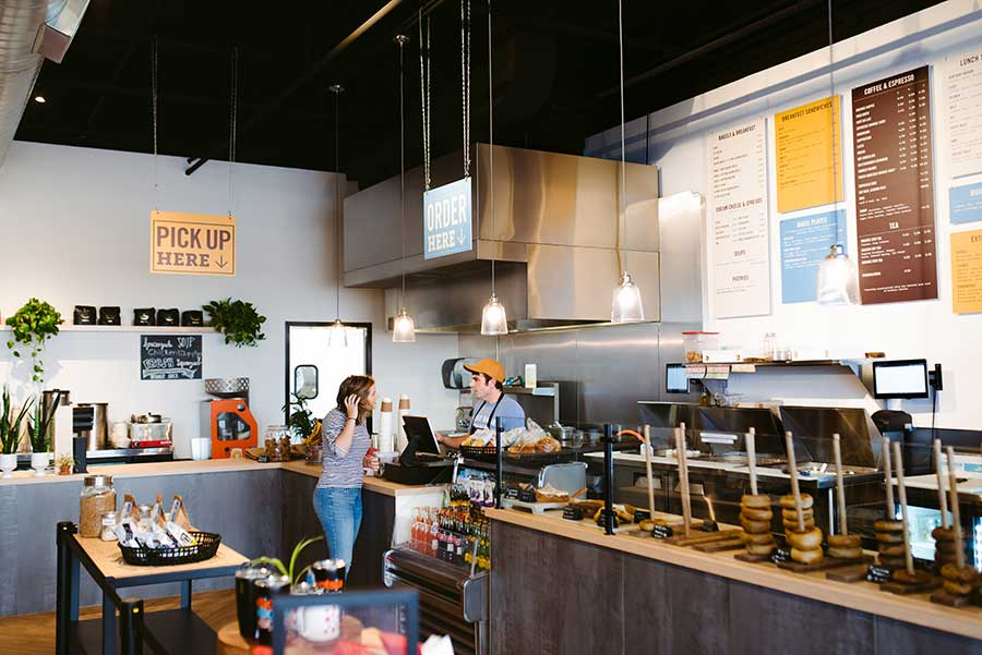 Great Bagel & Bakery, Boston Road, order counter