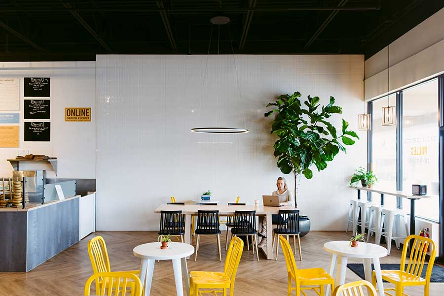 Great Bagel & Bakery, Boston Road, dining area, co-working space