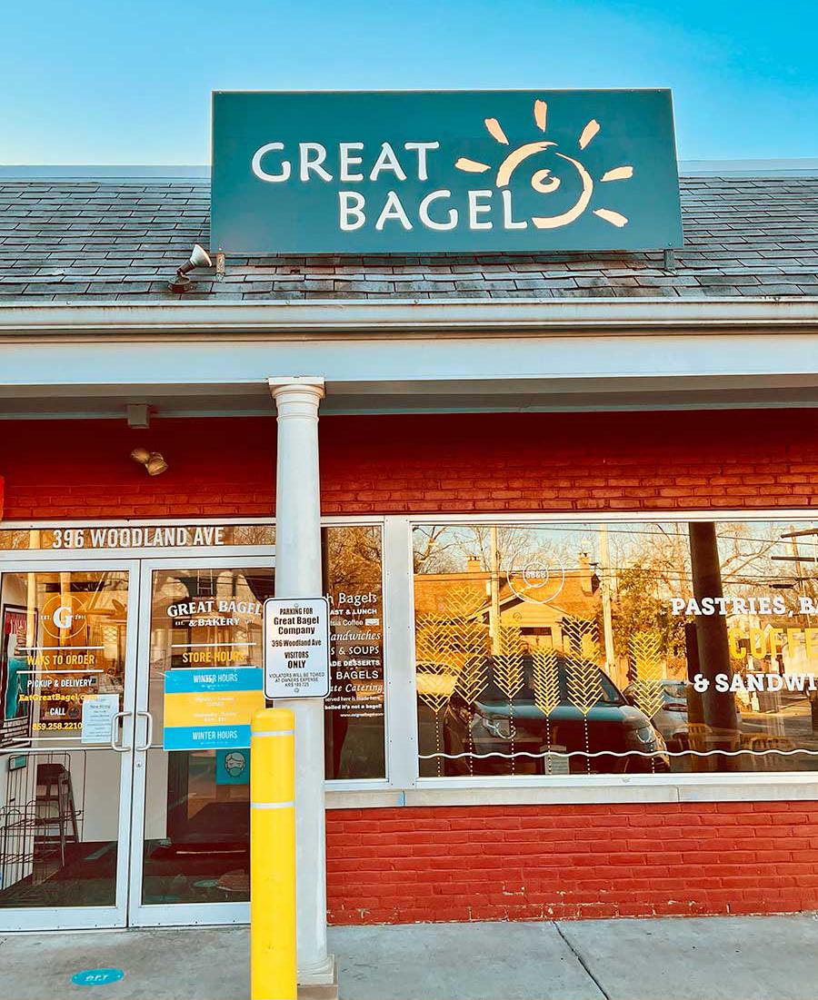 Great Bagel & Bakery Woodland location storefront