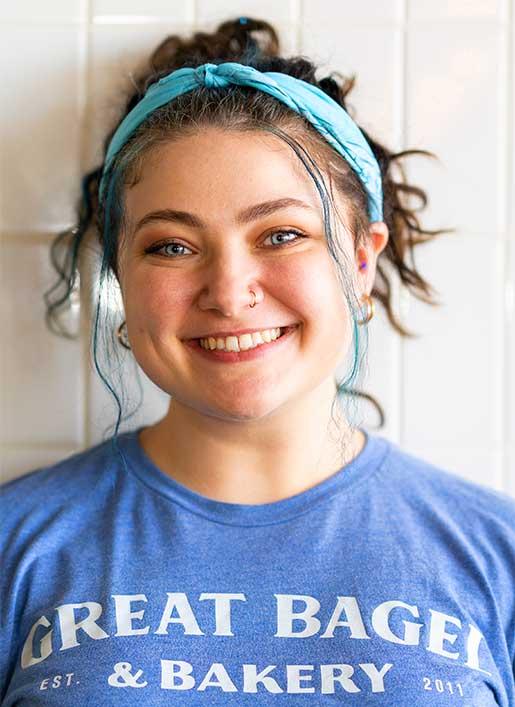 Nina Monticello, Manager Great Bagel & Bakery. Lexington, Kentucky.