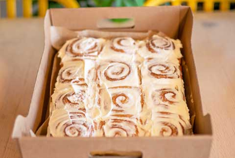 Cinnamon Rolls. Baked from scratch in house, our desserts are rich, delectable and sweet... they're just as great as our bagels! Great Bagel & Bakery in Lexington, KY