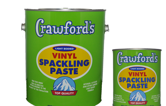 """""""Remember: When the sanding gets tough, the person doing the sanding better use Crawford's Vinyl Spackling Paste. Sandsational!"""""""