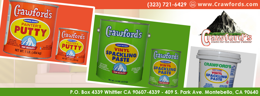 Cleanliness is next to Godliness with Crawford's Spackle and Putty!  Only at www.Crawfords.com