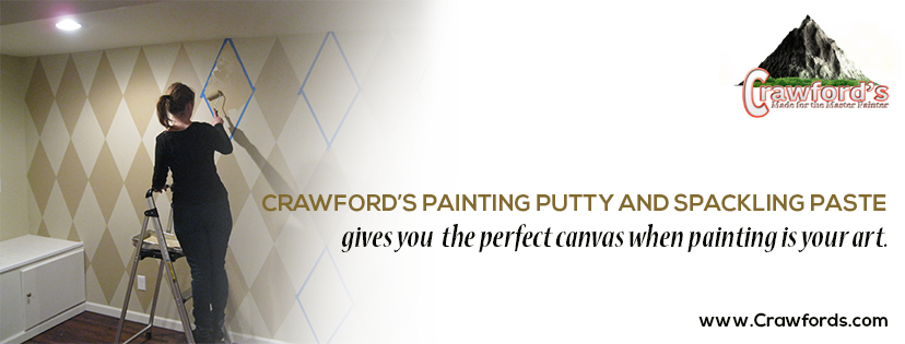 CRAWFORD'S PAINTING PUTTY AND SPACKLING PASTE gives you the perfect canvas when painting is your art!