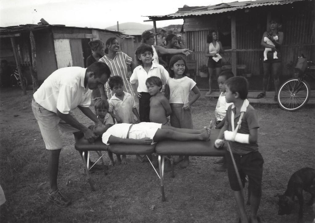 Dr. James Lee adjusting in Costa Rica