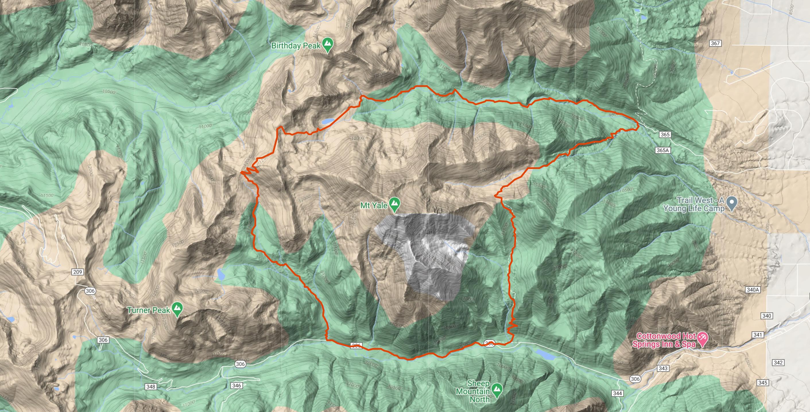 Yale 360 - Trail Running Circumnavigating Mt. Yale