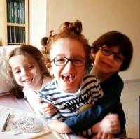 Triplets Kamil, Nabil and Maria