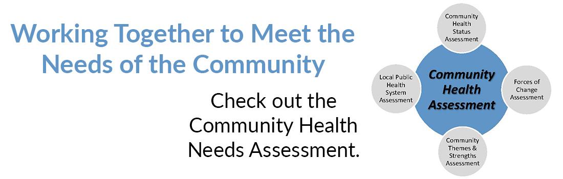 Community Health Needs Assessment Rotating Web Banner