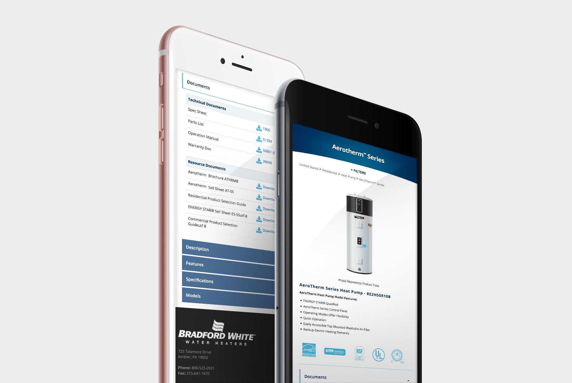 Bradford White Product Website