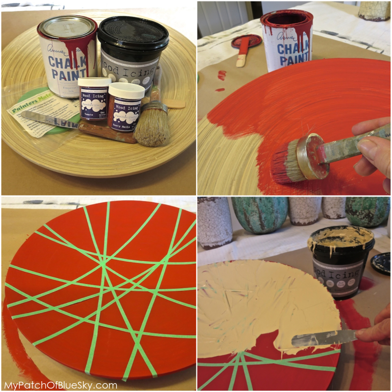 Wood Icing™ red bowl project