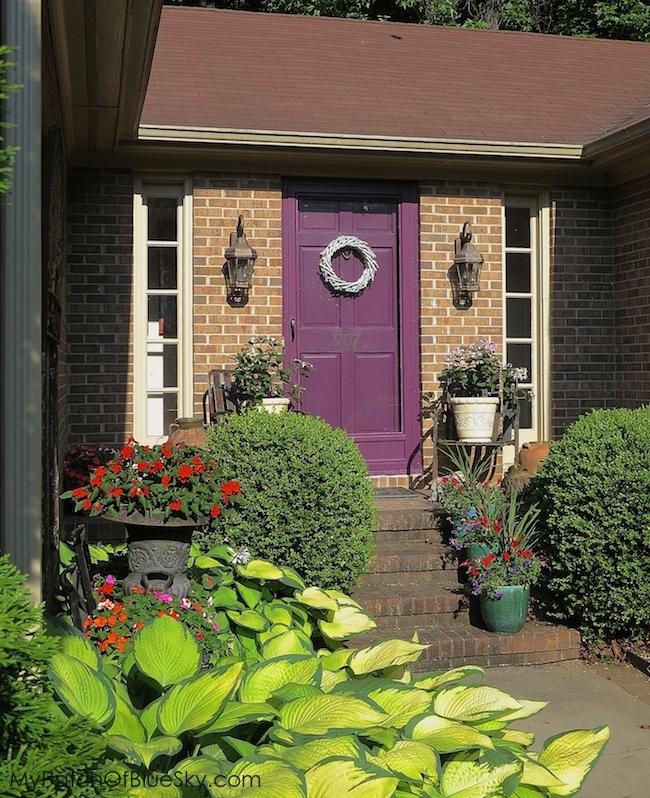 After Front Door Paint.