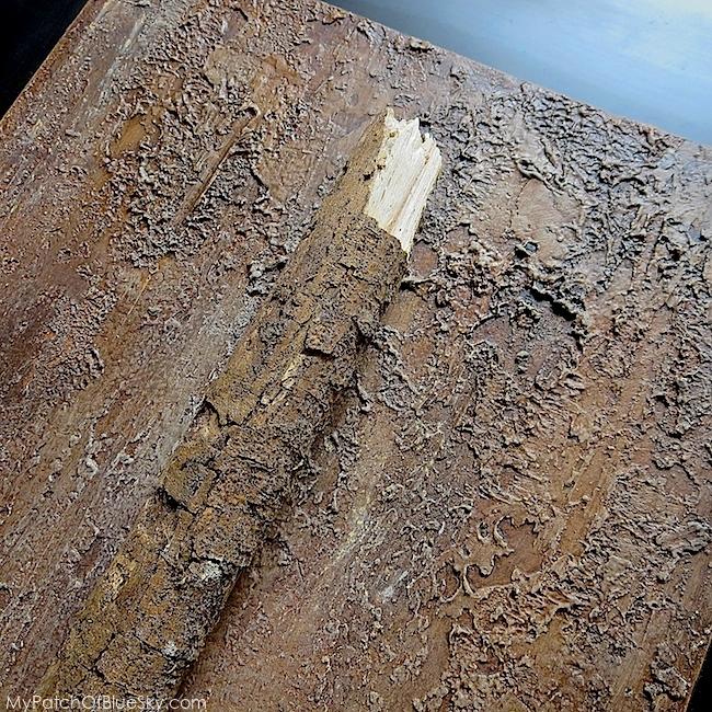 Photo of tree bark faux finish
