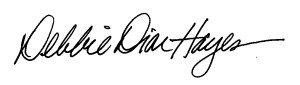 Debbie Dion Hayes signature