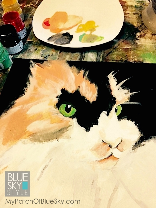 Kitty portrait using Fusion Mineral Paint