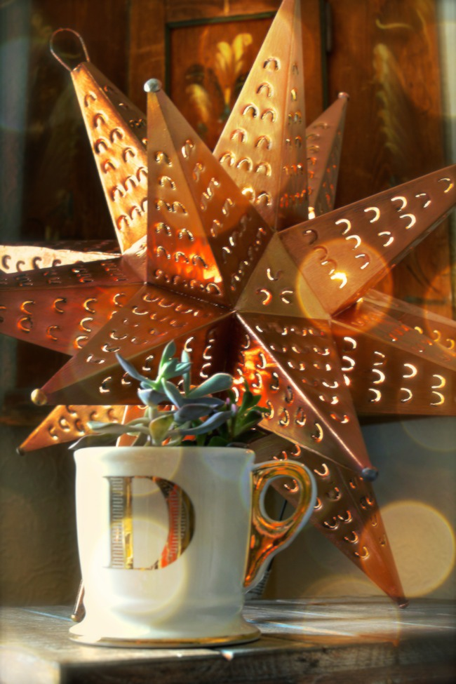 Paint a copper metallic star lamp using Fusion products
