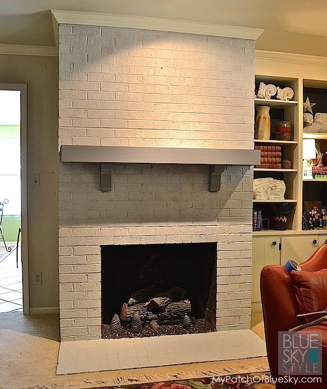 Our drab fireplace gets fabulous using Fusion Mineral Paint