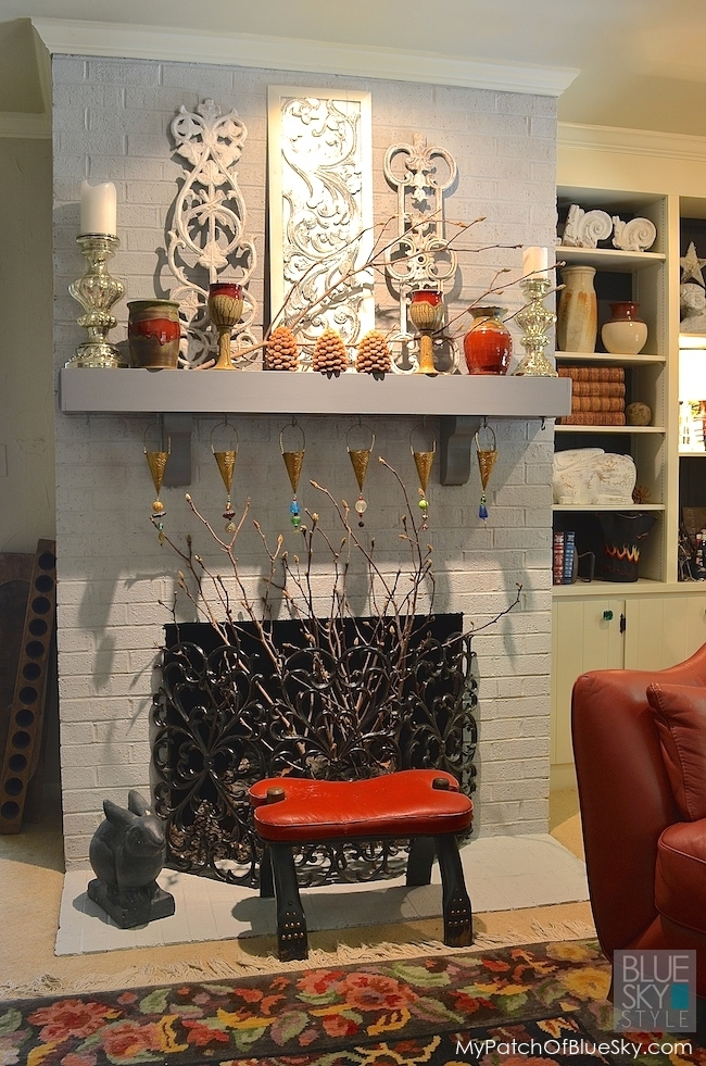 Our Dreary Fireplace Gets A Fabulous New Look Using Fusion Mineral Paint!