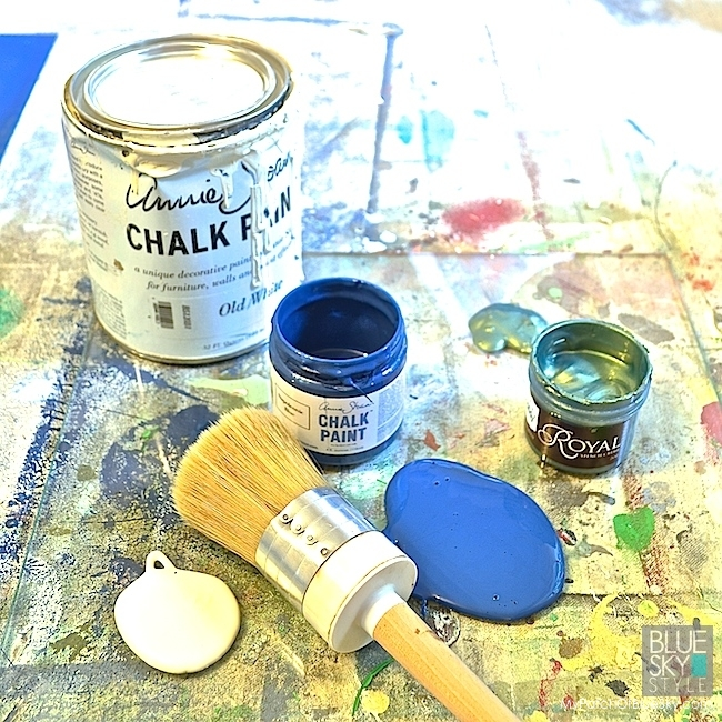 Artisan Enhancements furniture and wall finish using Chalk Paint® and foils.