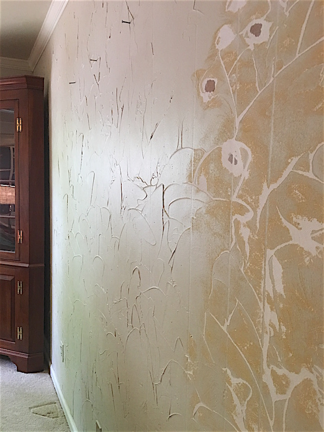 How To: Remove ugly joint compound textured walls and add a Modern Masters Venetian Plaster finish.
