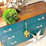 Upcycled old chest, using Fusion Renfrew and Homestead Blue