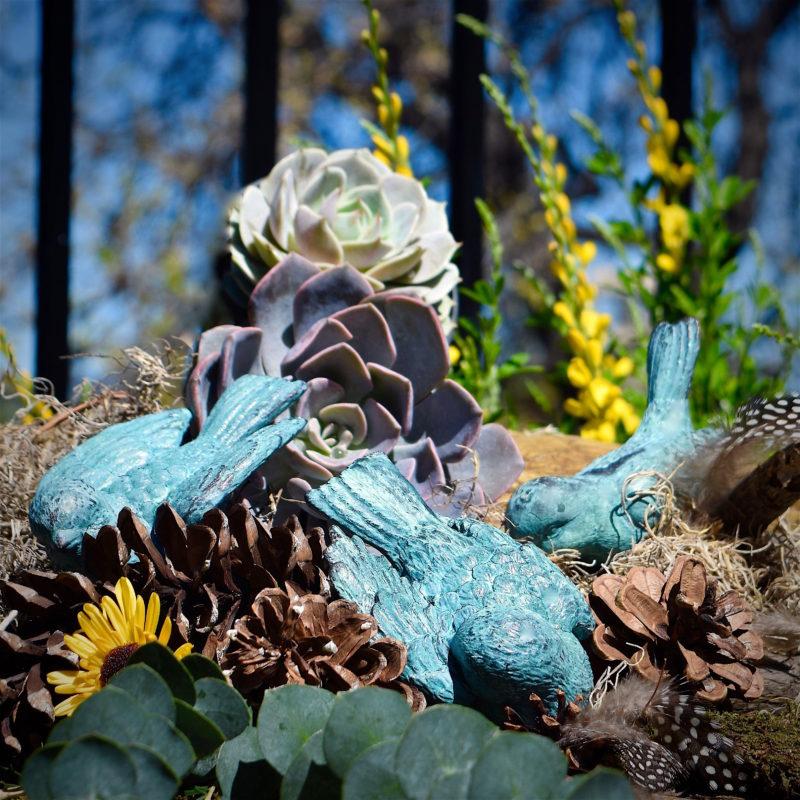My Patch Of Blue Sky   Patina Bluebirds