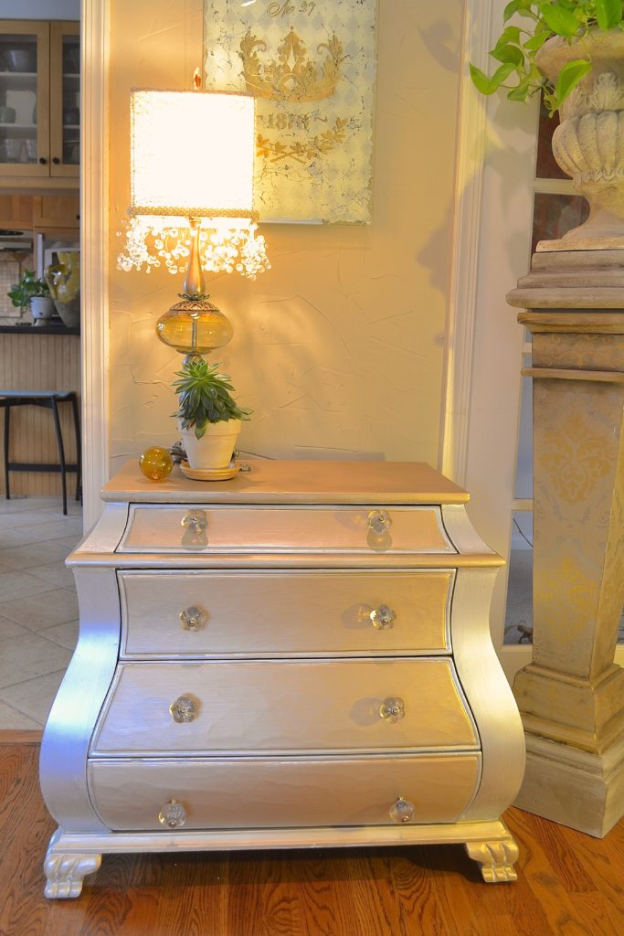 My Patch Of Blue Sky |  Paint A Chest With Soft Metallics