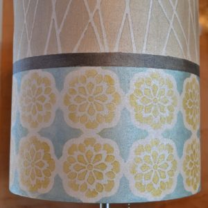 My Patch Of Blue Sky | Painted Fabric Lampshade