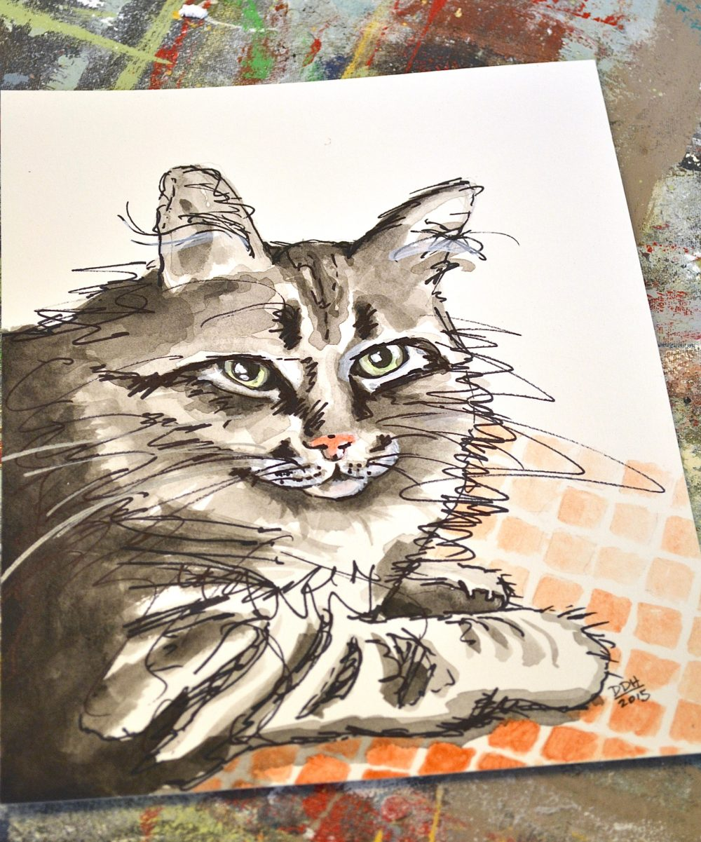 My Patch Of Blue Sky   How To Paint Your Pet Portrait Using Wood Icing Products