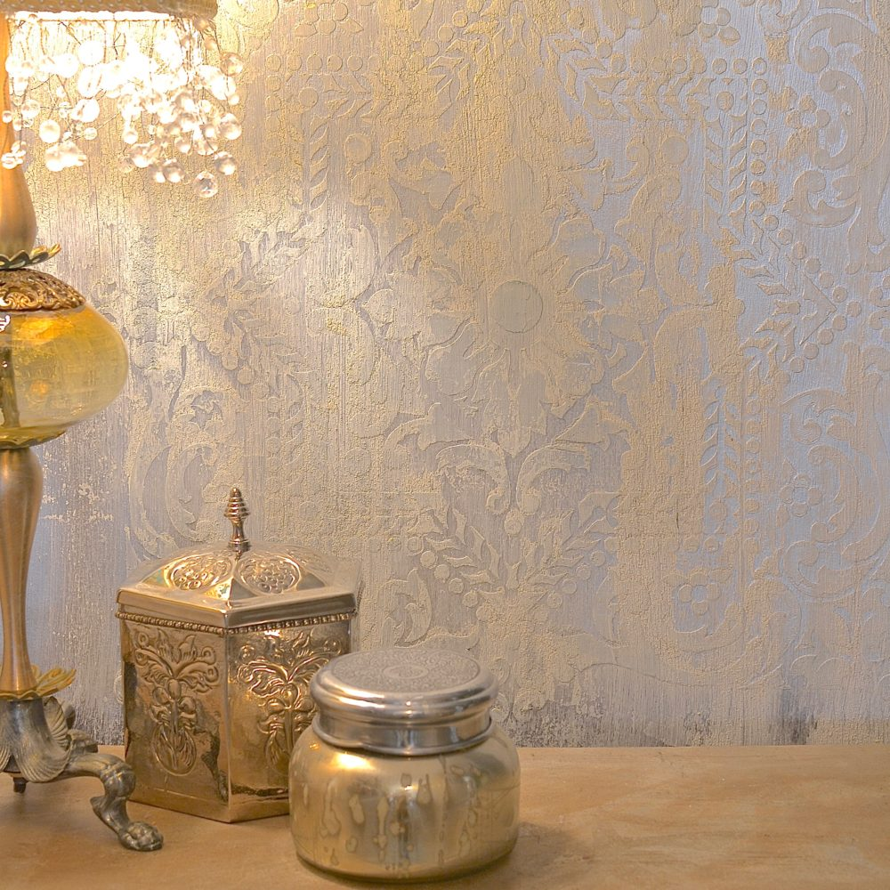 My Patch Of Blue Sky | How To Create A Silvery, Patterned Wall Finish Using Wood Icing