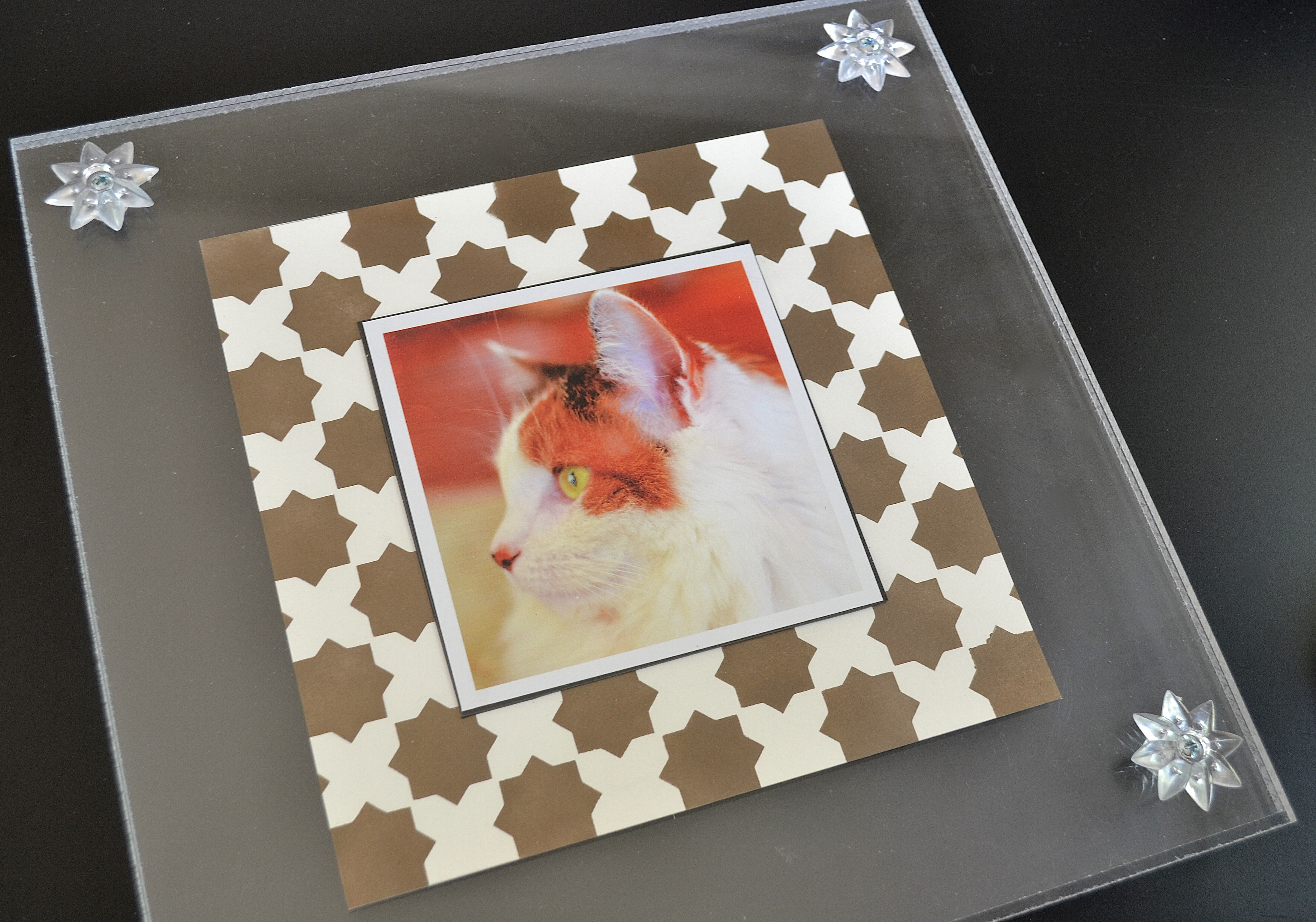 My Patch Of Blue Sky   How To Make An Acrylic Picture Frame And Mat Using Royal Design Studio Products