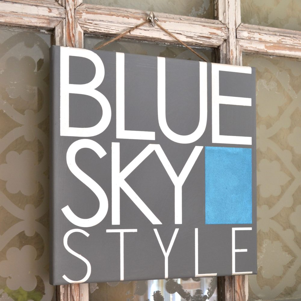 My Patch Of Blue Sky | How To Make A Logo Sign Using A Royal Design Studio Custom Modello