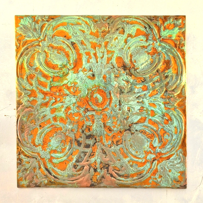 My Patch Of Blue Sky   How To Add Rust And Patina To Textured Wall Art