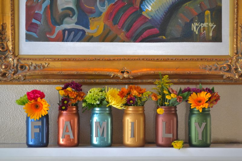 My Patch Of Blue Sky | Lettered Thanksgiving Mason Jars