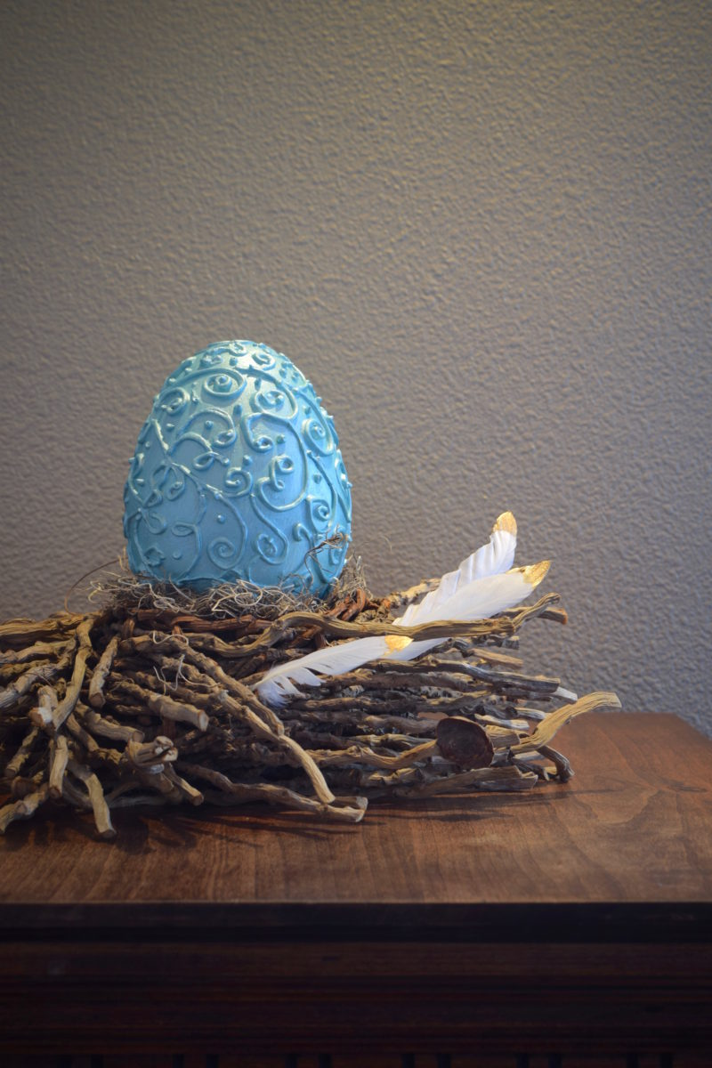 My Patch Of Blue Sky | Embossed Easter Egg