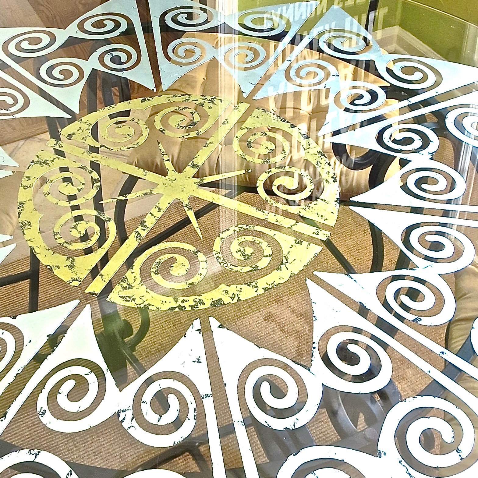 My Patch Of Blue Sky   How To Use A Royal Design Studio Custom Modello On A Glass Table Top