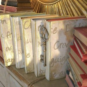 My Patch Of Blue Sky | How To Paint And Stencil Old Books Using Royal Design Studio Stencils