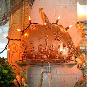 My Patch Of Blue Sky | Glamorous Metallic Paint Halloween Pumpkins Project